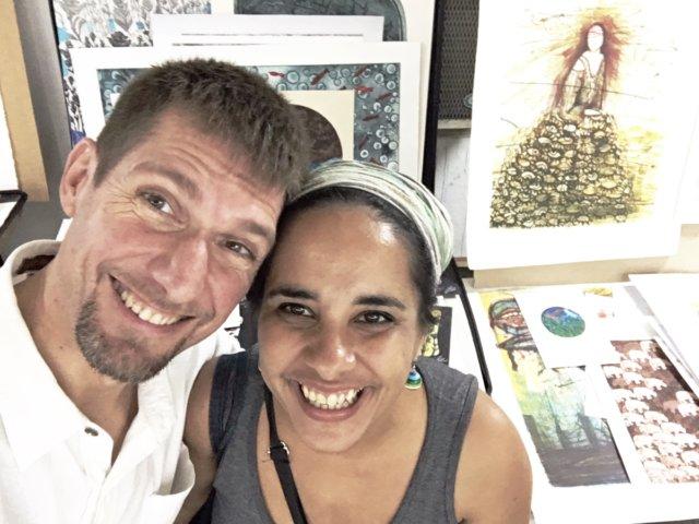u.r.s. jOsé mit der Künstlerin Irina Cepero Rodriguez