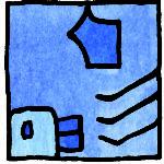 MANIK Blaue Handwelle