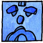CHUEN Blaue Affenwelle